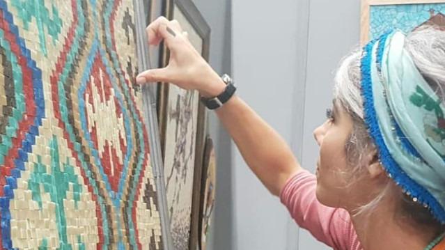 Mozaik sevenler için tasarlanmış halılar İsmek Sergi'de