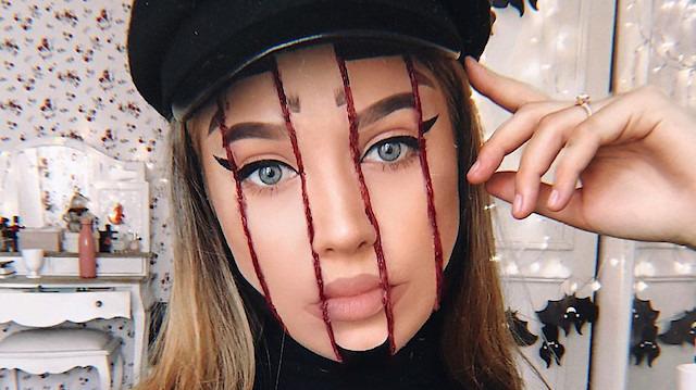 Makyaj artisti Monika Falyork'tan görenleri şaşırtan gerçekçi çalışmalar