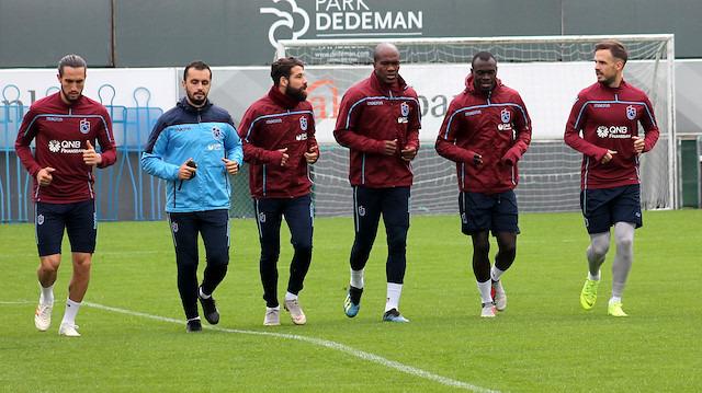Trabzonspor 7 eksikle çalıştı