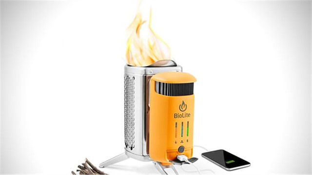 Telefonu ateşle şarj eden cihaz: 'BioLite kamp ocağı'