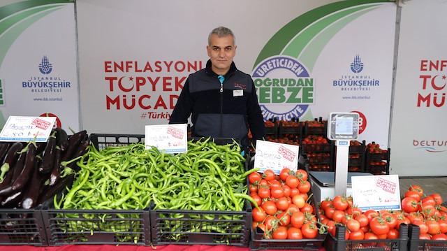 İBB tanzimin ilk gün bilançosunu açıkladı: En çok talep domates ve soğana gösterildi