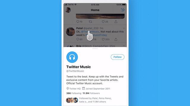 Twitter, profil önizleme özelliğini test ediyor