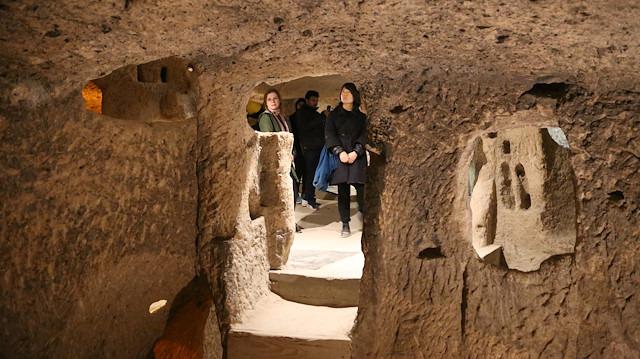 1 milyon turistin yer altında gezdiği şehir: Kapadokya