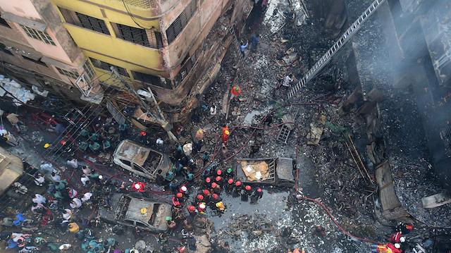 Dakka'daki yangında ölü sayısı 70'i aştı