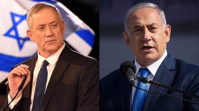 İsrail'de Netanyahu da Gantz da zafer ilan etti