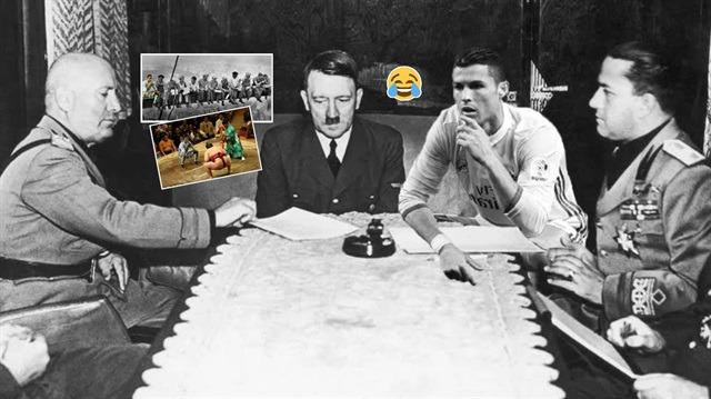 Muzip photoshop uzmanları iş başında: Ronaldo'yu şekilden şekile soktular