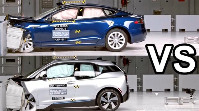 Hangisi daha sağlam: BMW i3 ve Tesla Model S karşı karşıya!