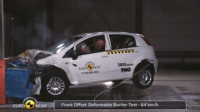 Güvenlik testlerinden sıfır yıldız alan otomobil: FIAT Punto!