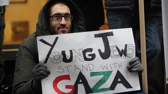 Yahudiler, İsrail'in Gazze'ye uyguladığı ablukayı protesto etti