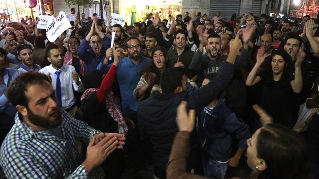 Ramallah'ta Gazze gösterisine polis müdahalesi