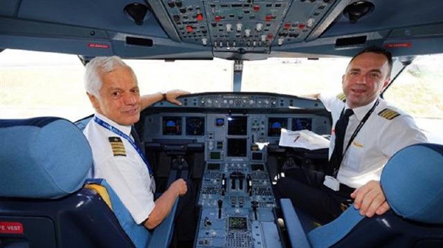 THY'nin 45 yıllık pilotu Kemal İnce son uçuşunu gerçekleştirdi