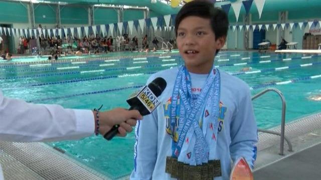 Süperman çocuk Phelps'i geçti