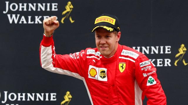 Olaylı yarışta zafer Vettel'in oldu