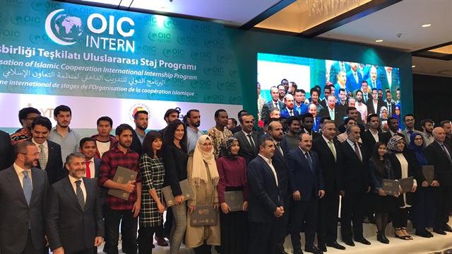 İslam İşbirliği Teşkilatı Uluslararası Staj Programı tamamlandı