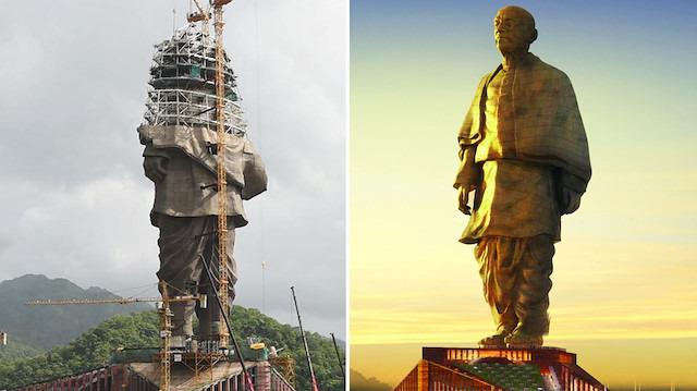 Hindistan dünyanın en uzun heykelinin açılışını yaptı