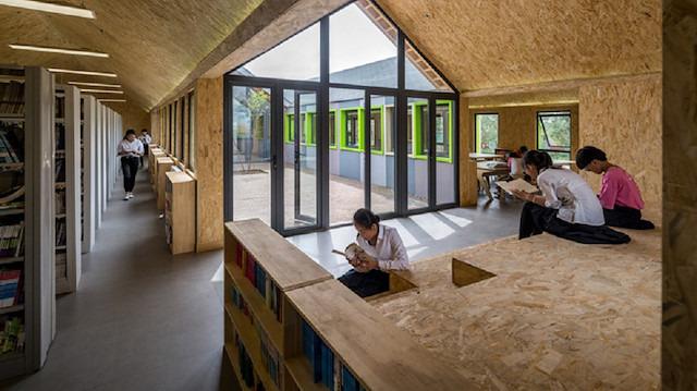 Sadece 7 günde tasarlanan modüler kütüphane: The Huaxia Star Library