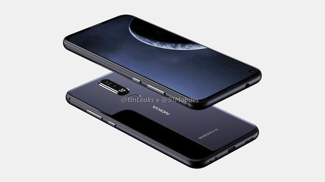 Delikli ekrana sahip Nokia 8.1 Plus'ın fotoğrafları ortaya çıktı