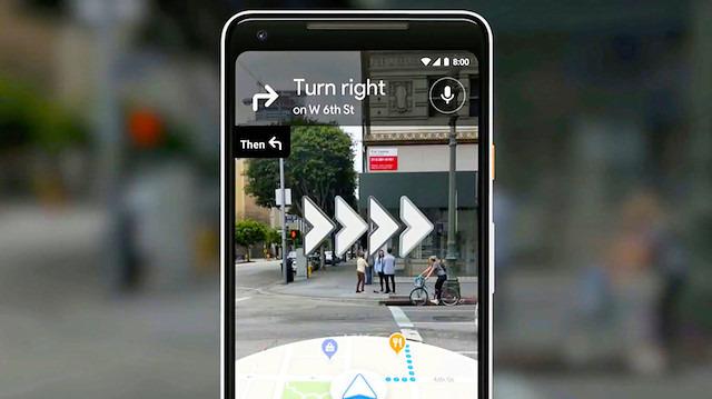 Google Haritalar, artırılmış gerçeklik desteği kazanıyor