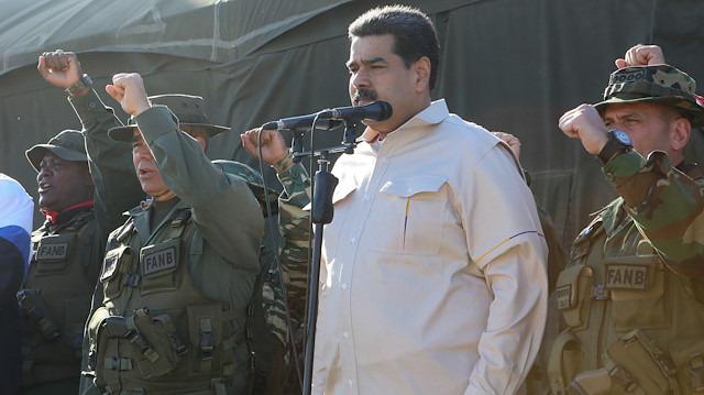 Maduro'dan gövde gösterisi: Dış müdahale tehditlerine karşı askeri tatbikat