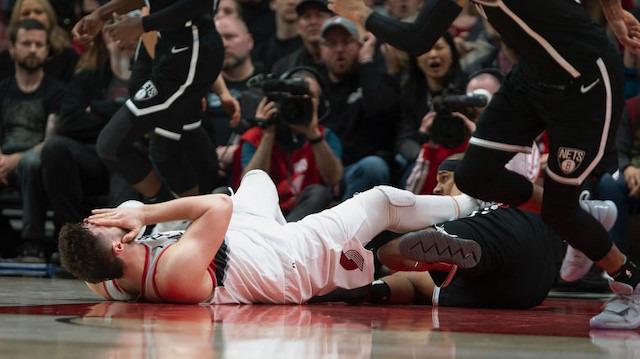 NBA'de korkunç sakatlık