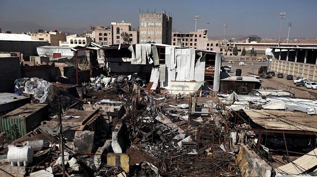 Koalisyon güçlerine ait uçaklar Sana'yı hedef aldı