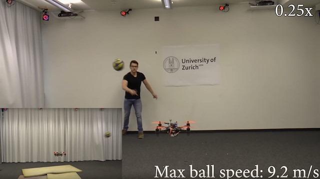 Otomatik pilotlu drone gerçek zamanlı olarak hareketli engellerden kaçabiliyor