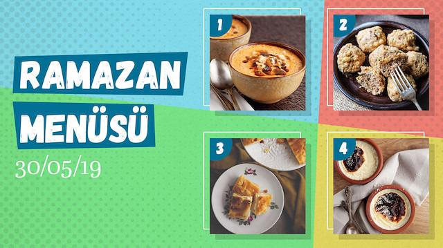 Ramazan ayına özel günlük iftar menüsü #25