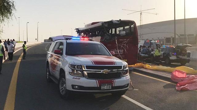 Dubai'de şoförün hatası faciayla sonuçlandı