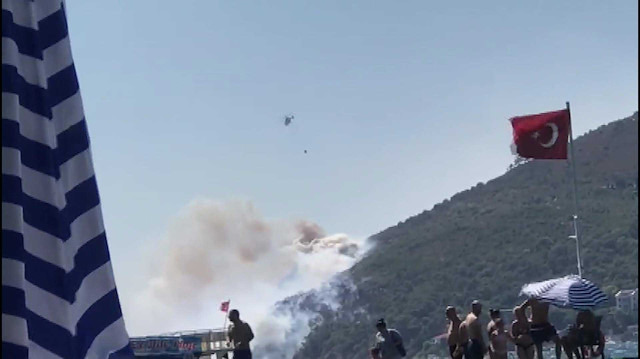 Burgazada'da ormanlık alanda yangın!