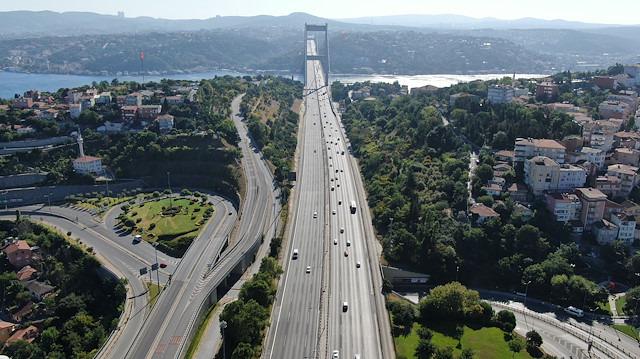 İstanbul trafiği 'bayram' etti
