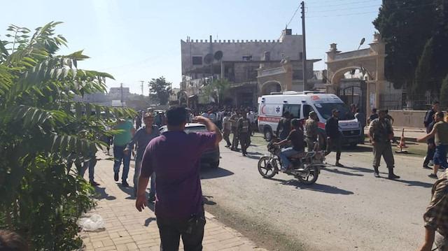 Azez'e çifte saldırı