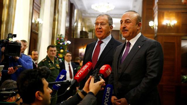 Bakan Çavuşoğlu, Lavrov'la Suriye'yi görüştü
