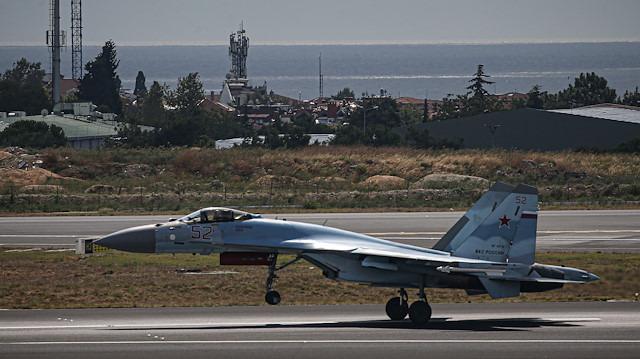 Rus uçağı 'Su-35' Teknofest için İstanbul semalarında