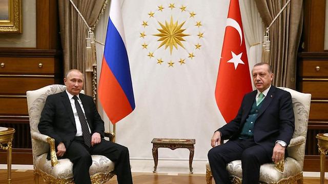 Cumhurbaşkanı Erdoğan ile Rusya Devlet Başkanı Putin'in görüşmesi başladı