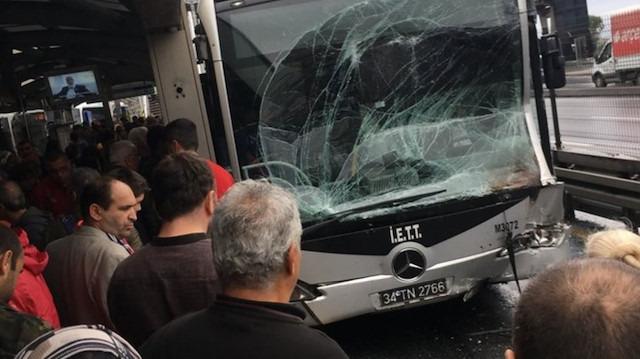 İstanbul'da bir metrobüs kazası daha