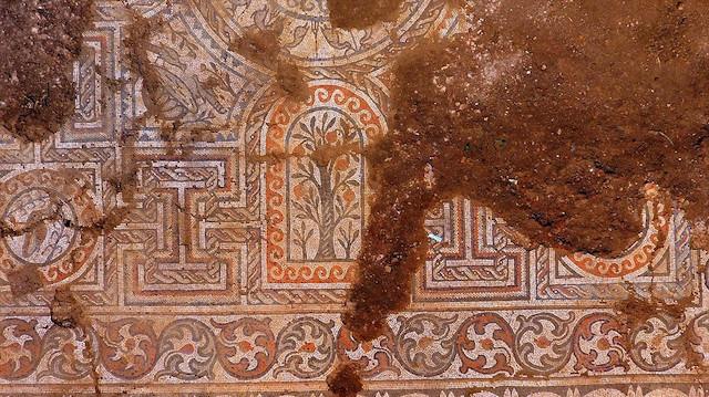 Çanakkale'de bulunan bin 500 yıllık mozaik gün yüzüne çıkarılıyor