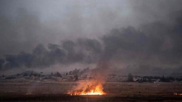 YPG, DEAŞ'lı teröristlerin kaçması için kampta yangın çıkardı