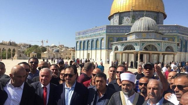 Suudi heyetinin Aksa ziyaretine büyük tepki