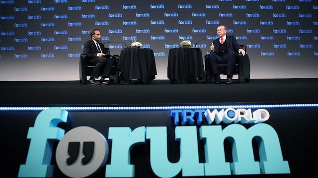 Cumhurbaşkanı Erdoğan TRT World Forum'da konuşacak