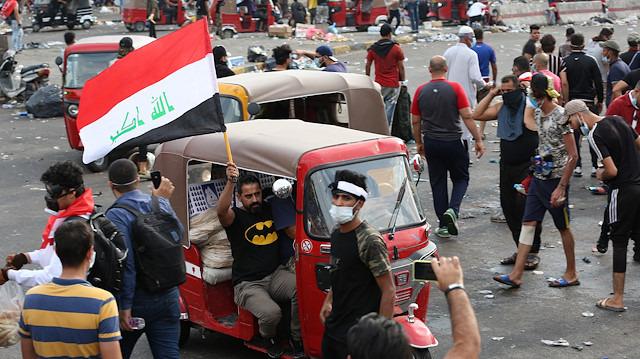 Irak'ta gösterilerin sembolü tuk tuklar