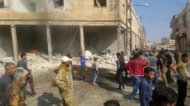 Tel Abyad'a bomba yüklü araçla saldırı
