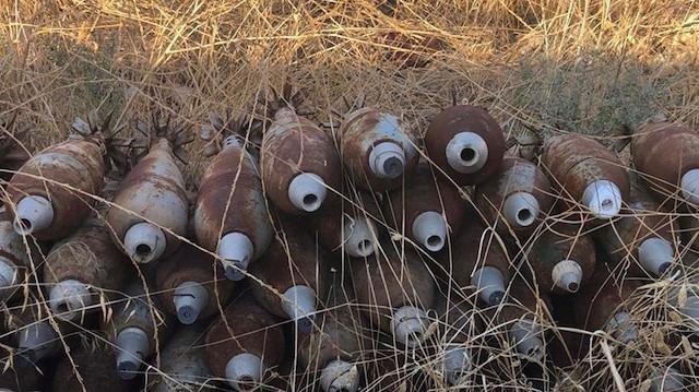 Tel Abyad'da terör örgütüne ait 285 ağır silah mühimmatı ele geçirildi