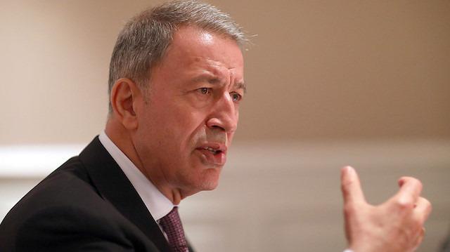 Bakan Akar: Harekatlar sonucu terör devleti hayali bitti