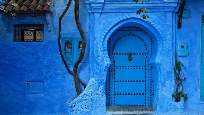 Kuzey Afrika'da evlerin kapıları neden mavidir?