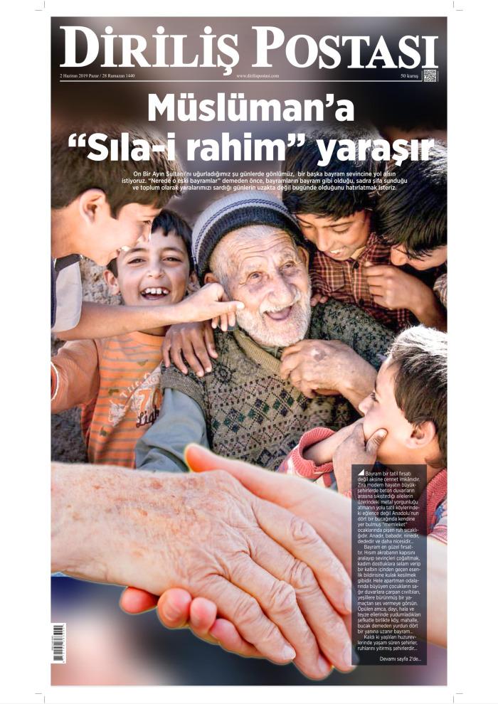 DİRİLİŞ POSTASI Gazetesi 2 Haziran 2019, Pazar Günü Manşeti