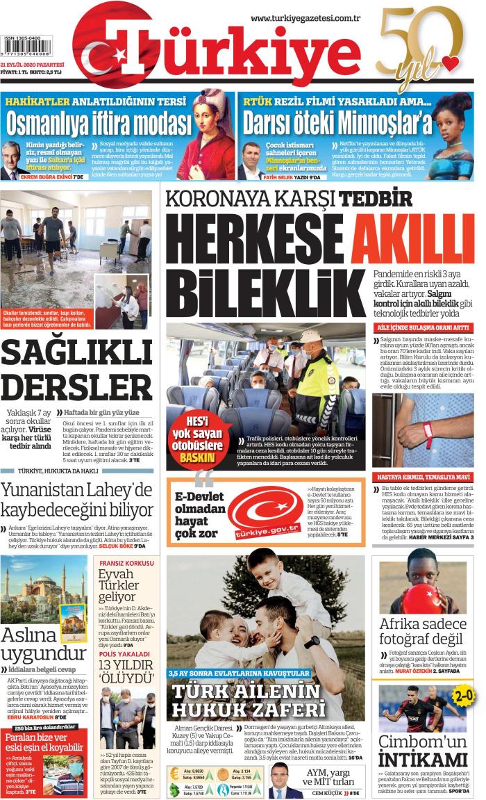 TURKEY News September 21, 2020 Monday Cuff
