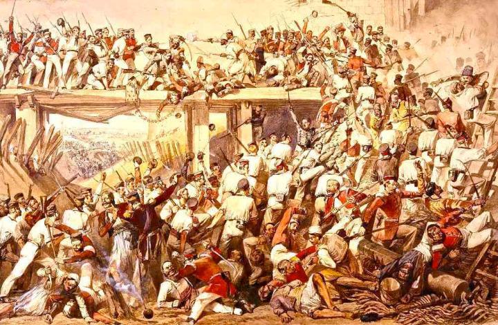 1857'de Sepoy askerlerinin ayaklanması ile başlayarak, halk genelinde yayılan isyanı Mirza Galib ''zamansız kıyamet'' olarak adlandırmıştı.