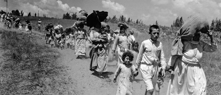 İsrail'in kuruluşunun ilan edilmesiyle birlikte, binlerce Filistinli evlerini, yurtlarını terk etmek zorunda kaldı.