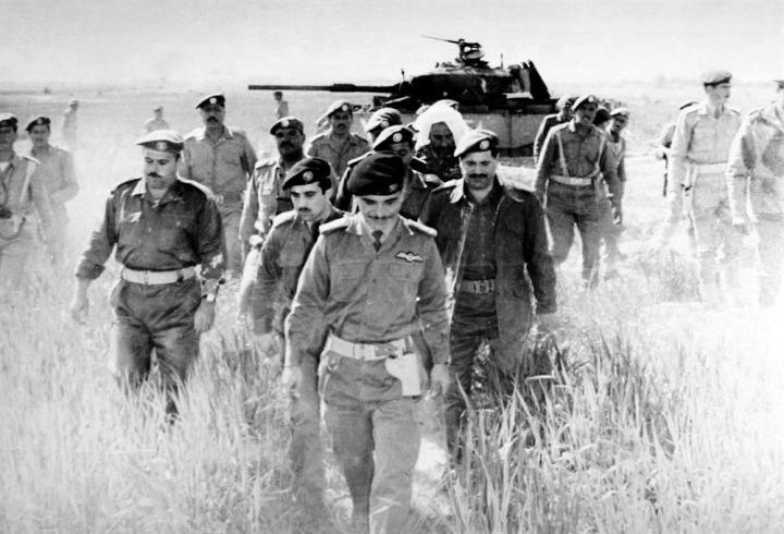 Ürdün Kralı Hüseyin (En önde), 25 bin Filistinlinin ölümüyle sonuçlanan operasyonları başlatan isimdi.
