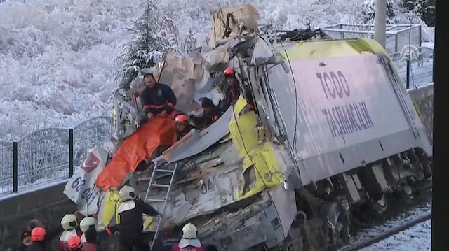 Ankara'da Yüksek Hızlı Tren kazası: 7 ölü, 46 yaralı